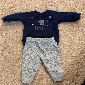 EUC elephant newborn outfit